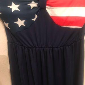 USA 🇺🇸 flag blue maxi dress